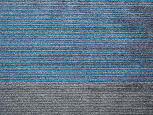 Grey Blue Stripe Carpet Tiles - Recycled A Grade - 50cm x 50cm