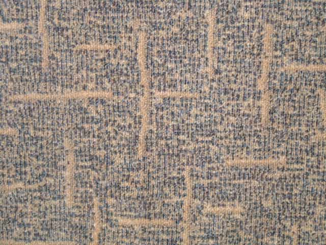 "Milliken Jem Carpet Tiles - Recycled B Grade - Blue/Beige Crosshatch - 18"" x 18"""