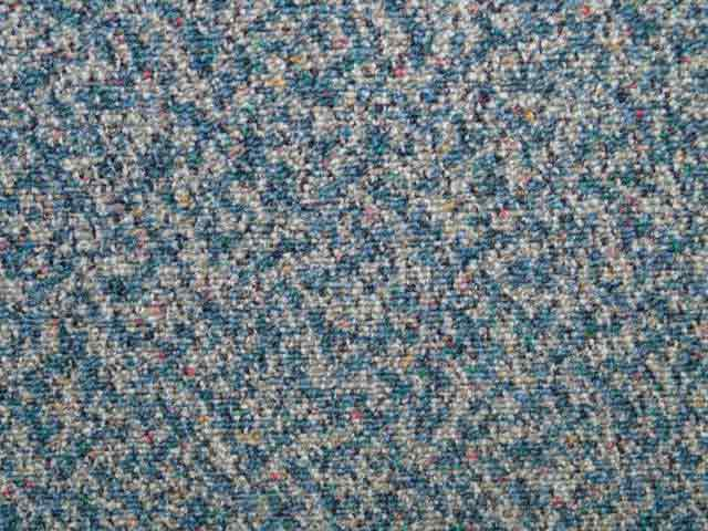 "Multi Fleck Carpet Tiles - Recycled C Grade - Blue - 18"" x 18"""