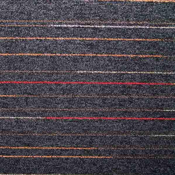 Modulyss First Lines Carpet Tiles - Black 966 - 50cm x 50cm